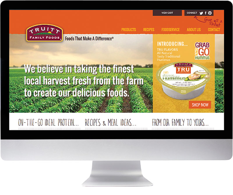 Truitt Family Foods website